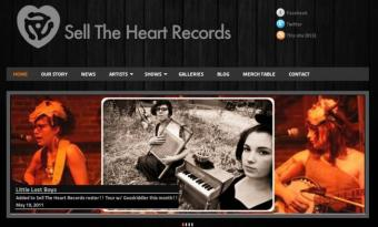 Sell The Heart Records has a new look designed by Burning Token