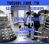 Semi Evolved Simians, June 7th,  Arlene Francis Center